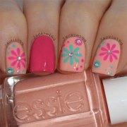 spring flower nail art design