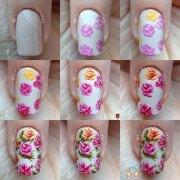 easy step spring nail art