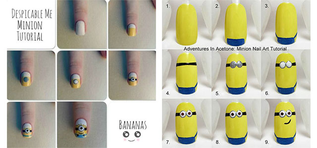 10 Easy Step By Minion Nail Art Tutorials For Beginners Learners 2017 Fabulous Designs