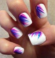 amazing summer blue nail art