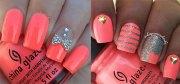 summer pink nail art design