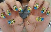 awesome minion nail art design
