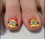 minion toe nail art design ideas