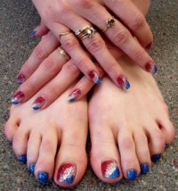 10 Cute Fourth Of July Toe Nail Art Designs, Ideas, Trends ...