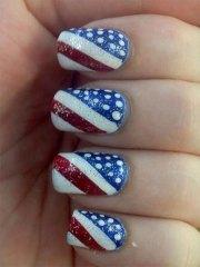 fourth of july acrylic nail