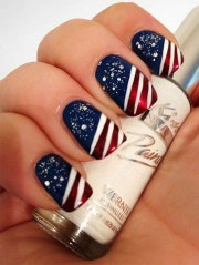 fourth of july acrylic nail
