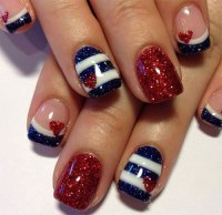 15 Fourth Of July Acrylic Nail Art Designs, Ideas, Trends ...