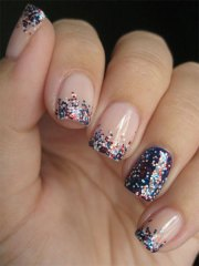 simple fourth of july nail