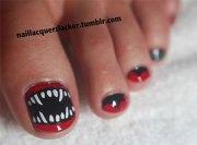 halloween toe nail art design