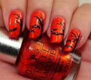 halloween bat nail art design