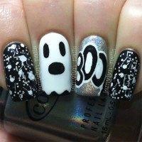 15+ Halloween Inspired Ghost Nail Art Designs, Ideas ...