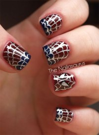 15+ Halloween Themed Spider Web Nail Art Designs, Ideas ...