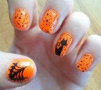 18+ Simple Halloween Nail Art Designs, Ideas, Trends ...