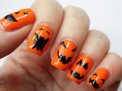 20 Halloween Pumpkin Nail Art Designs Ideas Trends