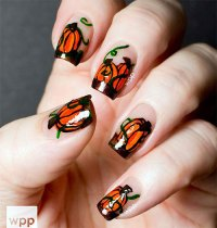 20+ Halloween Pumpkin Nail Art Designs, Ideas, Trends ...