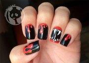 scary halloween nail art design
