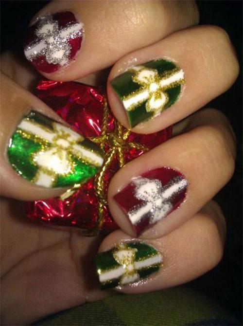 Christmas Present Nail Designs