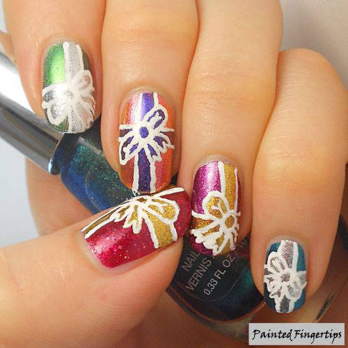 12+ Easy Christmas Present Nail Art Designs & Ideas 2015