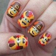 turkey nail art design