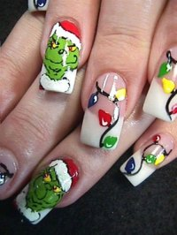 15+ Christmas Lights Nail Art Designs, Ideas & Stickers ...