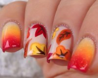 15+ Cute & Easy Fall / Autumn Nail Art Designs & Ideas