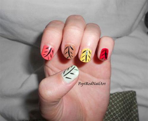 15 Cute Easy Fall Autumn Nail Art Designs
