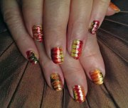 easy & cute thanksgiving nail