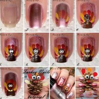 Easy Step By Step Thanksgiving Nail Art Tutorials For ...