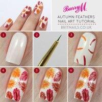 Step By Step Autumn / Fall Nail Art Tutorials For ...
