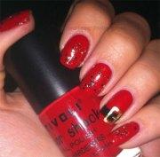 santa belt nail art design