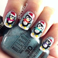 15 Christmas Penguin Nail Art Designs, Ideas & Stickers ...