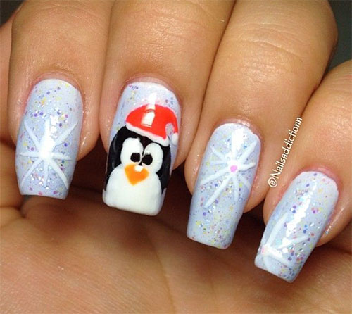 Flash Cute Penguin Nails Nail Art Tutorial