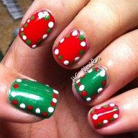 15+ Red / Green / Gold Christmas Nail Art Designs & Ideas ...