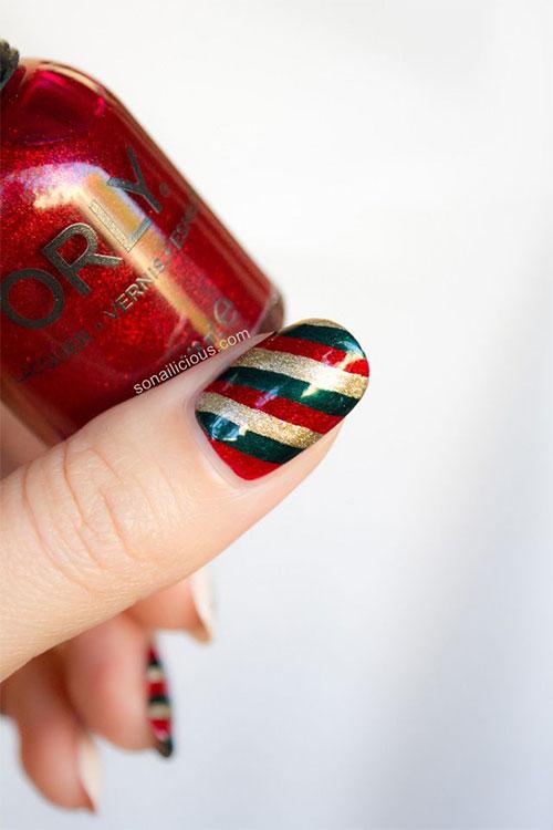 Red And Gold Christmas Nails : christmas, nails, 15-Red-Green-Gold-Christmas-Nail-Art-Designs-Ideas-2015-Xmas-Nails-8, Fabulous, Designs