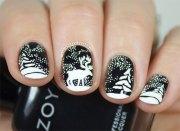 reindeer nail art design