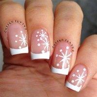 20+ Christmas Snowflake Acrylic Nail Art Designs, Ideas