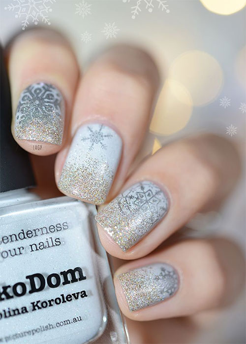 20 Christmas Snowflake Acrylic Nail Art Designs Ideas