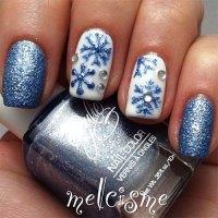 20+ Christmas Snowflake Acrylic Nail Art Designs, Ideas ...