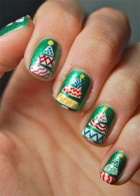 50 Easy Christmas Tree Nail Art Designs, Ideas & Stickers ...