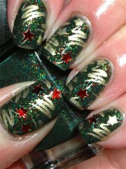 easy christmas tree nail art