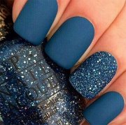 blue winter nail art design