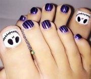 christmas toe nail art design