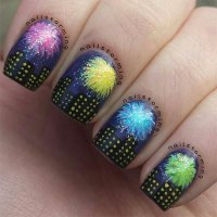 Fabulous Happy New Year Nail Art Designs, Ideas & Stickers
