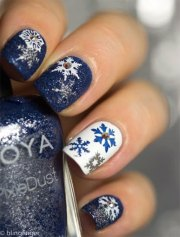 winter acrylic nail art
