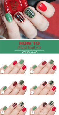 20+ Easy & Simple Christmas Nail Art Tutorials For ...