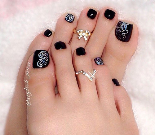 10 Winter Toe Nail Art Designs Ideas Trends Stickers 2017