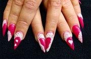 valentine's day acrylic nail