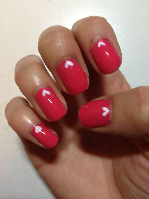 15 Easy  Cute Valentines Day Nail Art Designs  Ideas