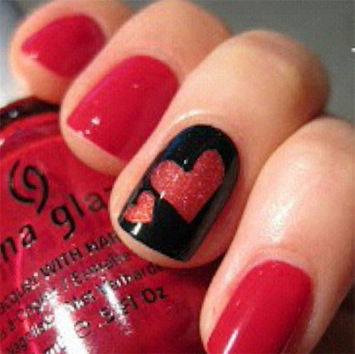15 Easy & Cute Valentine's Day Nail Art Designs & Ideas