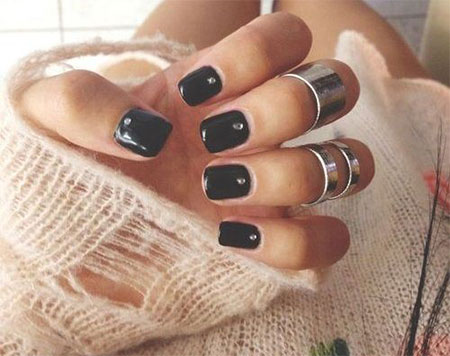 15 Winter Black Nail Art Designs Ideas  Stickers 2016